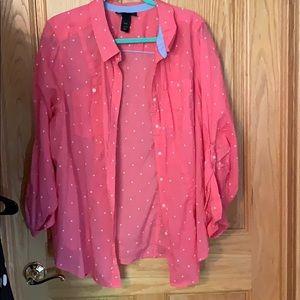 Lightweight button up dress shirt